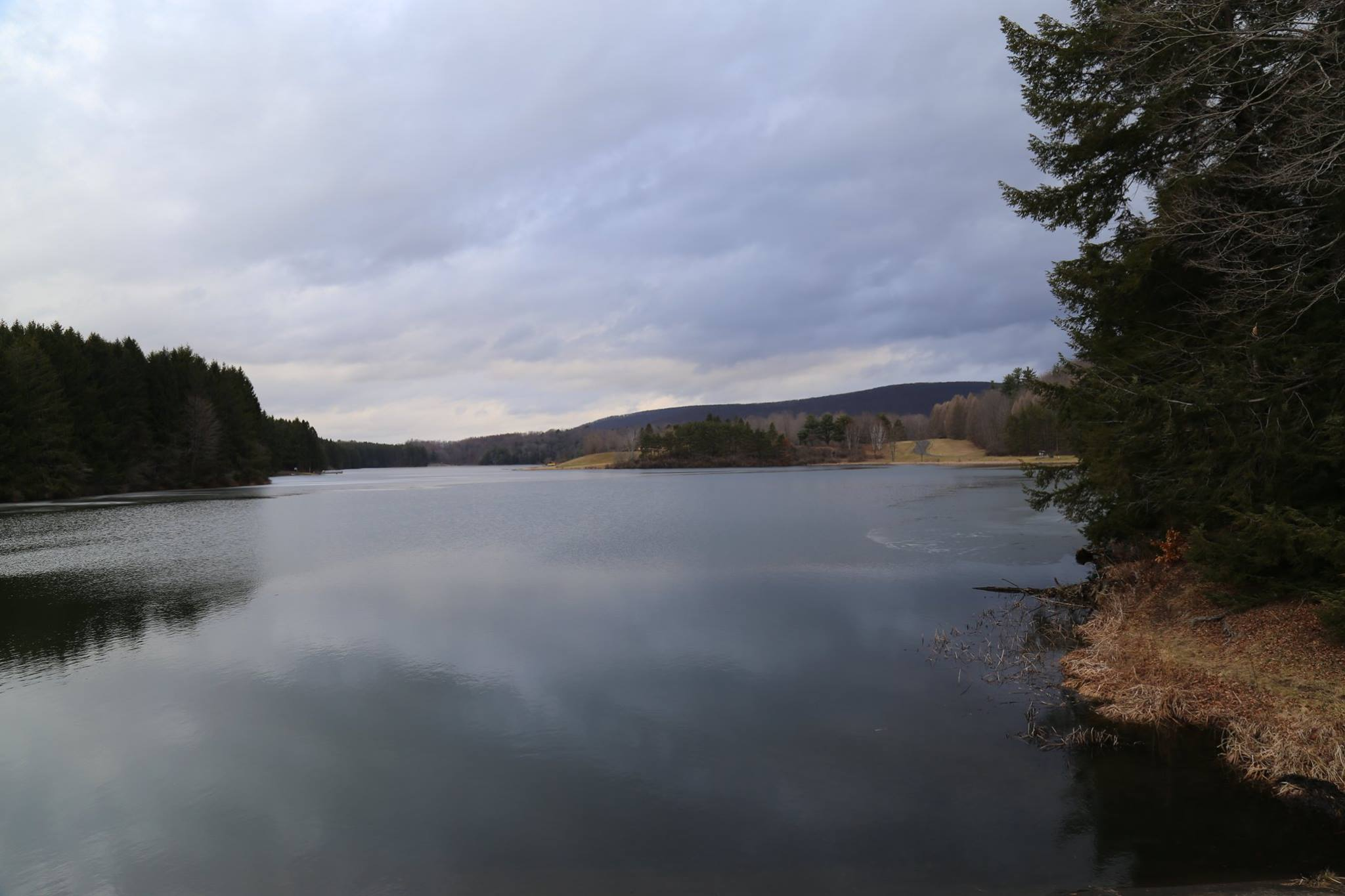 2/25/17 Lakes melting.  Ice mostly gone. Tioga County Fishing report